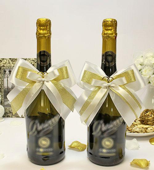 """Украшение для шампанского """"Банты"""" (2 шт)"""