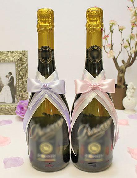 """Декор для свадебных бутылок """"Классика"""" (2 шт)"""