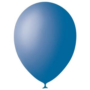 Шар круглый на свадьбу (13 см) (синий)