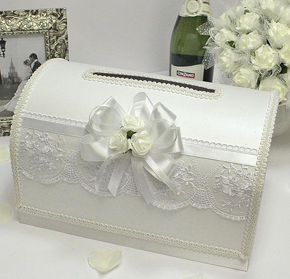 Семейный банк на свадьбу Розанна (большой) (белый)