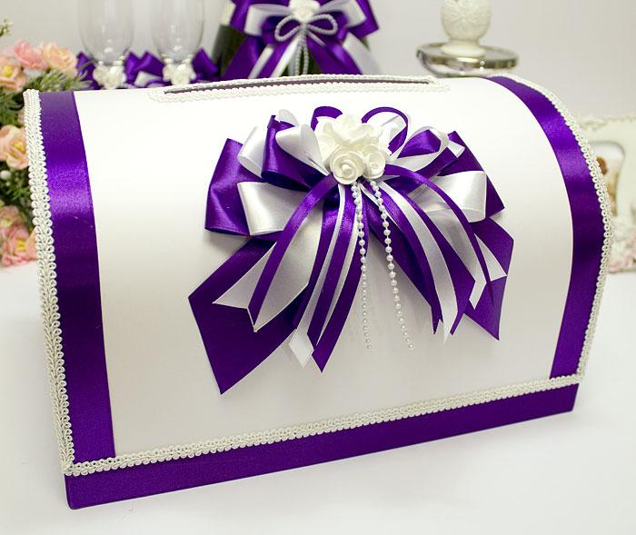 """Свадебный сундучок для денег и пожеланий """"Fantastic"""" (фиолет.)"""
