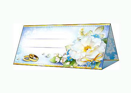 """Банкетная карточка для рассадки гостей """"Полевые цветы"""""""