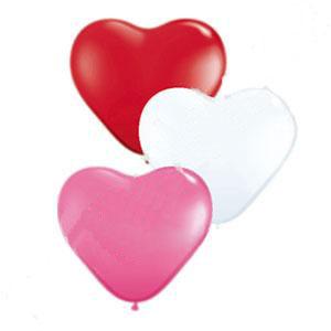 """Набор воздушных шаров """"Сердца"""" (10 шт, 25 см)"""