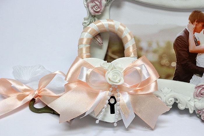 Свадебный замочек Fantastic (персиковый)