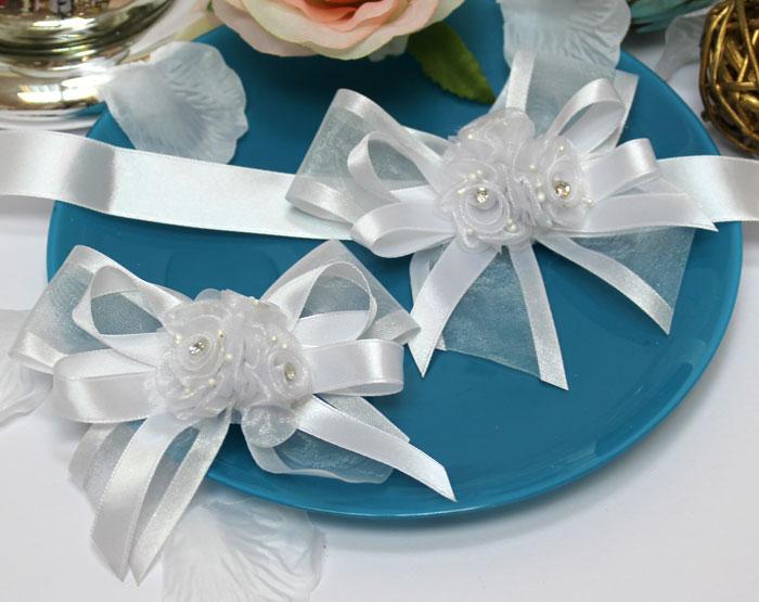 """Набор свадебных аксессуаров для свидетелей """"Цветочный"""""""
