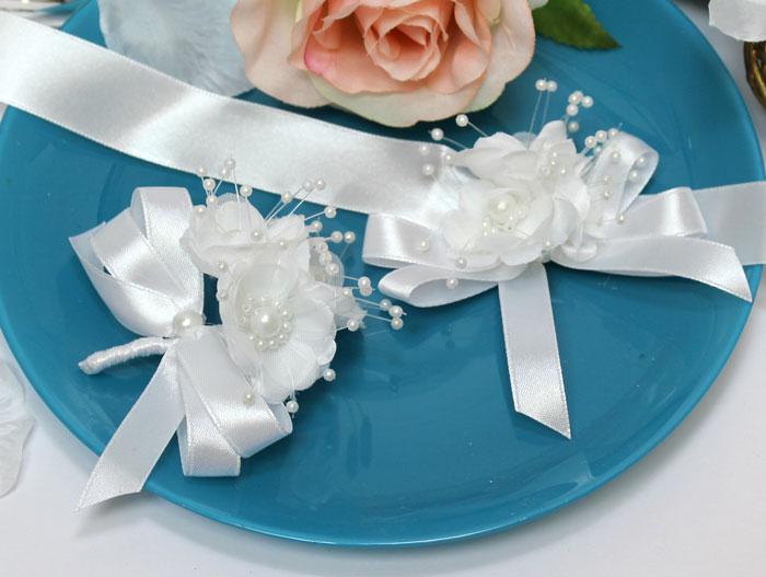 """Набор свадебных аксессуаров для свидетелей """"Семирамида"""" (2 шт) (белый)"""