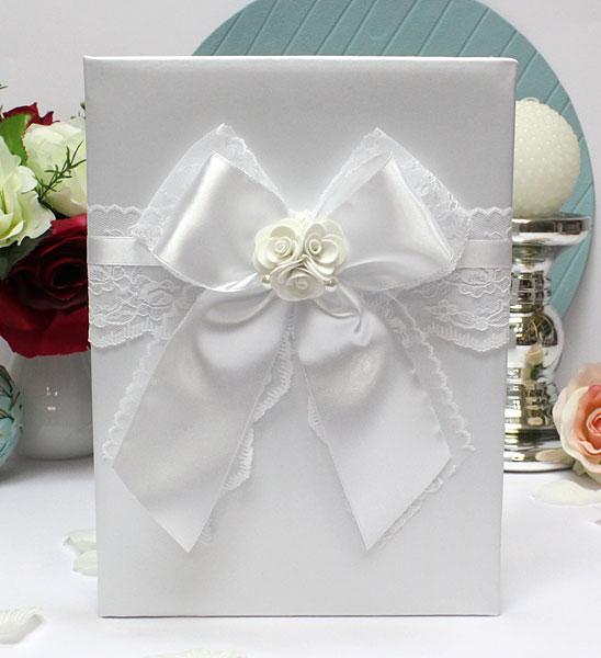 Обложка для свидетельтва о браке Изысканные розы (формат А4) (белый)