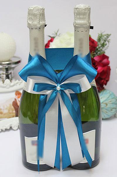 Декоративное украшение свадебных бутылок Nirvana (бирюзовый)
