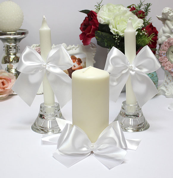 Домашний очаг + 2 свечи Paradise (без подсвечников) (белый)