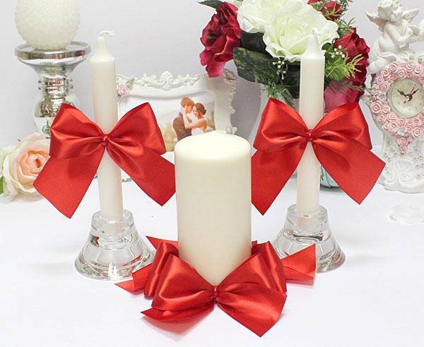 Домашний очаг + 2 свечи Paradise (без подсвечников) (красный)