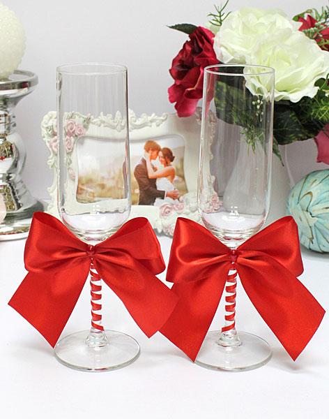 Свадебные бокалы Paradise (2 шт) (красный)