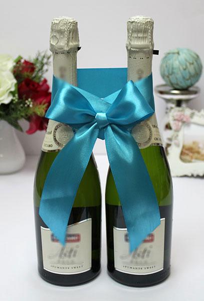 Украшение для шампанского Бант (бирюзовый)