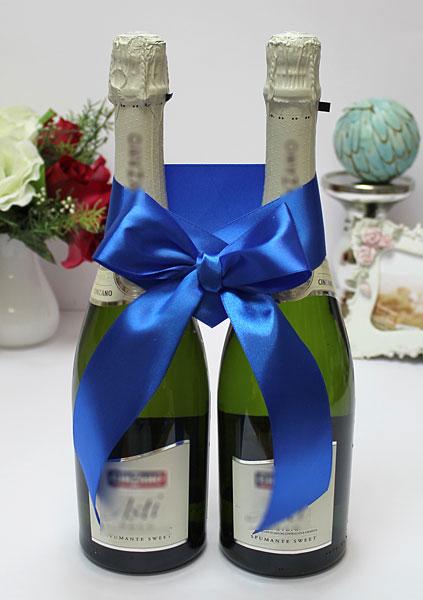 Украшение для шампанского Бант (синий)