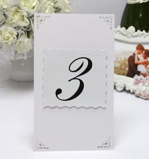 """Карточки с номером стола для гостей на свадьбу """"Вензеля"""""""