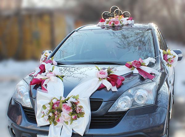 """Свадебная лента на автомобиль """"Винтажная роскошь"""""""