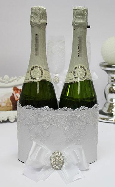 """Декоративный чехол для шампанского """"В ажуре"""""""