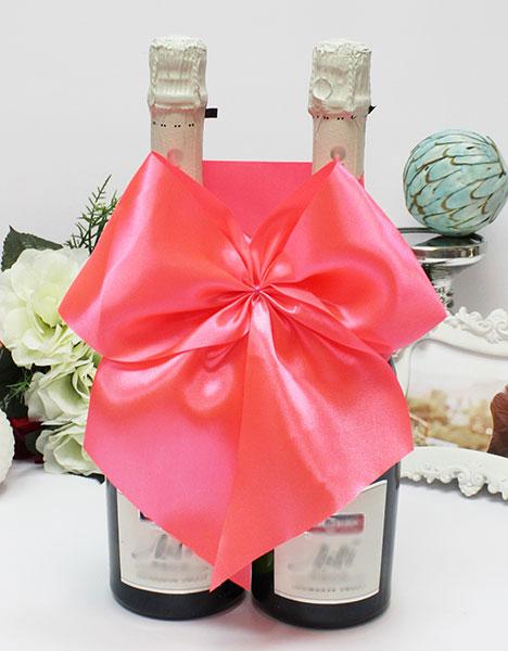 Декоративное украшение для шампанского Классика (ярко-розовый)