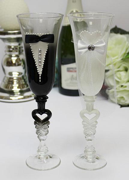"""Свадебные бокалы для молодоженов """"Идеальная пара"""" № 1 (2 шт)"""