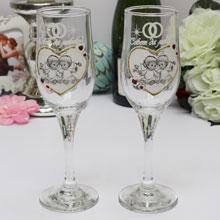 """Свадебные бокалы для молодоженов """"Ангелочки"""" (2 шт)"""