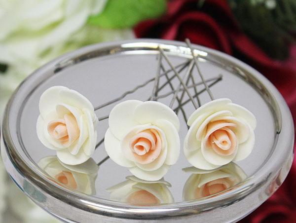 Свадебная шпилька Соблазн (айвори-персиковый)