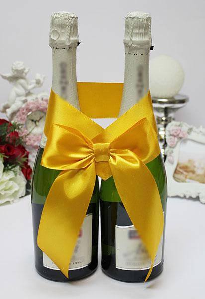 Украшение для шампанского Бант (желтый)