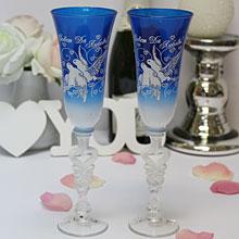 """Свадебные бокалы для молодоженов """"Голуби"""" (2 шт)"""