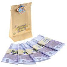"""Мешок игровых денег для выкупа  """"Офигиллион Евро"""""""