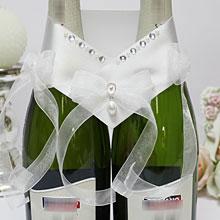 """Украшение для 2 бутылок шампанского """"Блеск"""""""