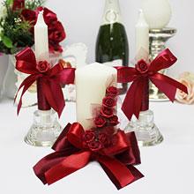 """Набор свадебных свечей """"Бордо"""""""