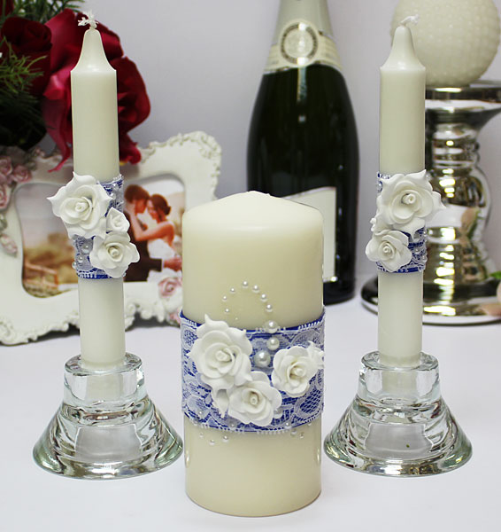 """Домашний очаг + 2 свечи """"Свадебный вальс"""" (без подсвечников)"""