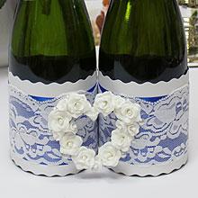 """Комплект украшений на бутылки шампанского """"Свадебный вальс"""""""