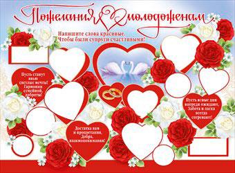 Красивые плакаты поздравления на свадьбу