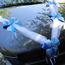Лента на машину Фантазия (2 луча) (синий/голубой)