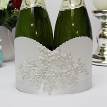 """Декоративный чехол для шампанского """"Сонет"""""""