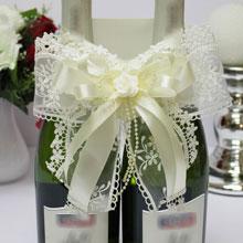 Декоративное украшение для шампанского Розалия (айвори)