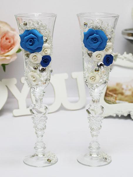 """Свадебные бокалы для молодоженов """"Цветочная фантазия"""" (2 шт)"""