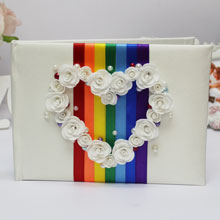 Свадебная книга пожеланий ручной работы Rainbow