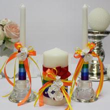 """Домашний очаг + 2 свечи """"Rainbow"""""""