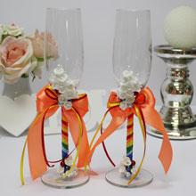 Бокалы свадебные Rainbow