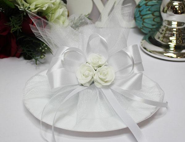 Тарелка для битья Розанна (белый)