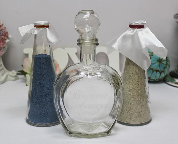 Свадебный набор для песочной церемонии (бел/гол)