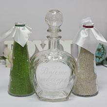 Свадебный набор для песочной церемонии (бел/зел)