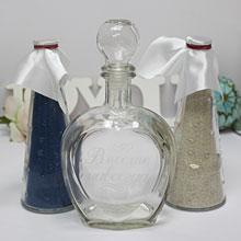 Свадебный набор для песочной церемонии (бел/син)