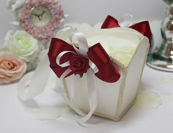 Корзиночка для лепестков Розанна (бордовый)