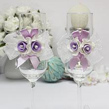 """Свадебные бокалы для молодоженов """"Сирень"""""""