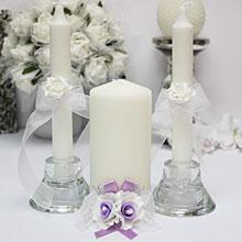 """Свадебные свечи для молодоженов """"Сирень"""""""