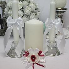 """Свадебные свечи для молодоженов """"Пальмира"""""""