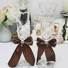 """Свадебные бокалы """"Chic"""" № 3 (2 шт, шоколадный)"""
