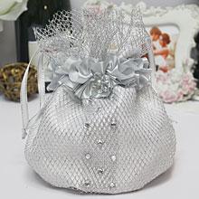 """Сумочка-мешочек для невесты """"Серебряная звезда"""""""