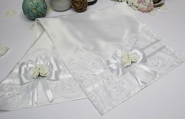 Свадебный рушник Розанна (белый)